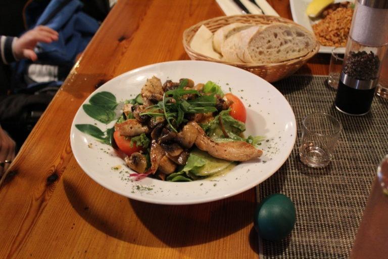 Salat mit Gyros